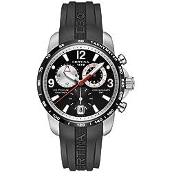 Certina C001.639.27.057.00 - Reloj para hombres, correa de goma color negro