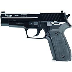 Softair 0, 6 SIG SAUER P226 BAX Manuel 6mm Culasse Metal 12BB's E=0,6 J. Max /C6 Mixte Adulte, Black