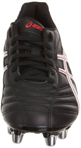 Hombres Negro Letales De Los De Rojo Negro Botas Blanco Asics Unidad Rugby dFwqXzz