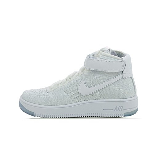 Nike W AF1 Flyknit, Chaussures de Sport Femme Blanc