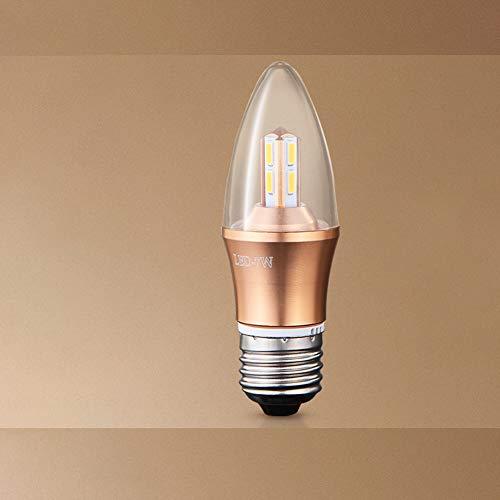 WJIE Bombilla LED, Fuente luz E14 / E27, Tornillo
