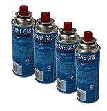 DKB Unkrautbrenner mit Bajonettanschluss Gasbrenner Piezo Zündung Unkrautvernichter Brenner Abflammgerät Einzelnd oder mit Gas (4 Gaskartuschen)