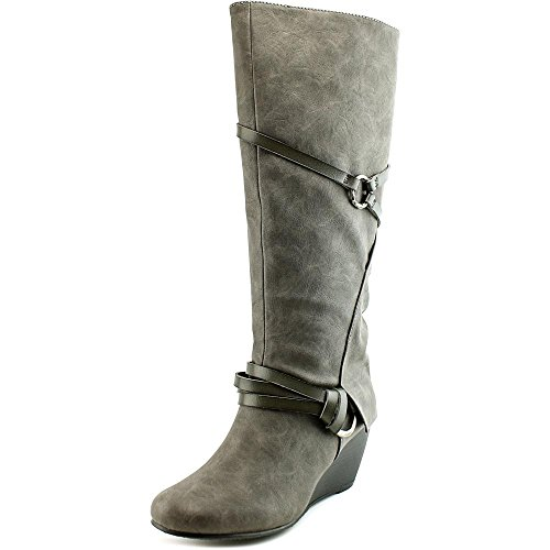 Hoch Stiefel Blowfish knie Rund Grey Texas Kunstleder Board Damen Mode AAxH0q