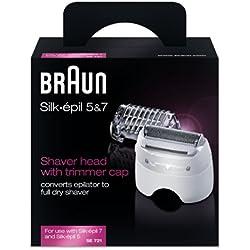 Braun Silk-épil SE721Rasierkopf/Zubehör Rasenmäher für Epilierer Silk-épil 7/Silk-épil 5