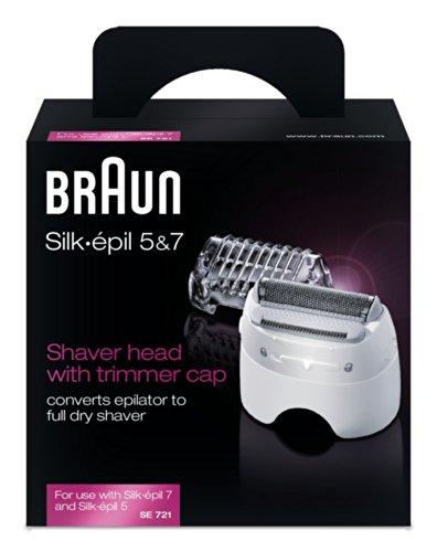 Braun Silk-Épil SE721 Testina del Rasoio con Cappuccio Regolatore per Epilatori Silk-Épil 7 e 5