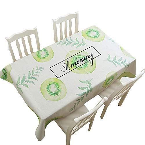 und Baumwolle Und Leinen Einfache Frische Tischdecke Restaurant Kreative Tischdecke Wohnzimmer Staubschutztuch (Farbe : A, größe : 140 * 140cm) ()