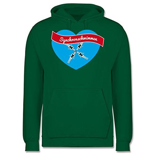 Wassersport - Synchronschwimmen - Männer Premium Kapuzenpullover / Hoodie Grün