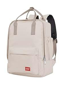 blnbag U3 - Kleiner Rucksack 10 Liter mit Fronttasche und Tablet-Fach, Daypack, leichter Tagesrucksack, Backpacker, unisex, Beige