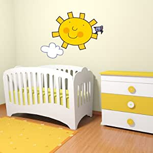STIKID - The sun with a bird 53x38 cm- Julio Bunny - The Italian Wall stickers for kids