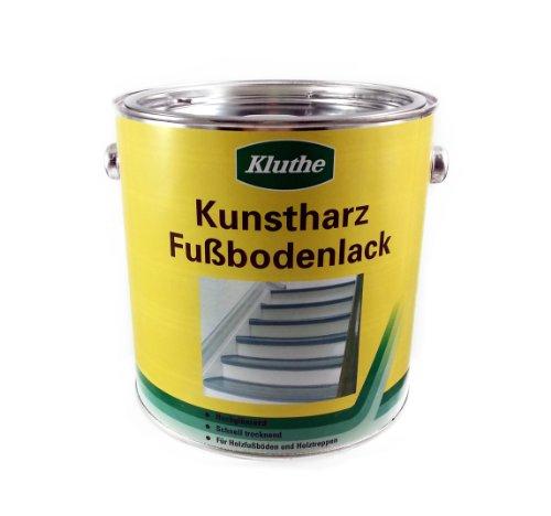 Kluthe Kunstharz Holz Fußbodenlack / Treppenlack / Dielenlack / 2,5l / hochglänzend RAL 9010 reinweiss