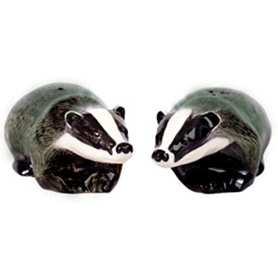 Quail Ceramics - Badger Salt And Pepper Pots from Quail Ceramics