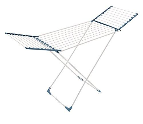 Meliconi stendibiancheria lock classic aluminium, 22 mt, in alluminio, colore blu, 56 x 180 x 110 cm. made in italy