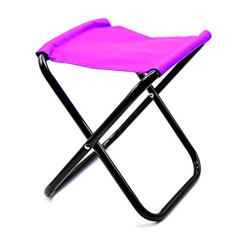 Mini Klappstuhl Sitzhocker Campingstuhl Klapphocker Falthocker Angelhocker (Pink)
