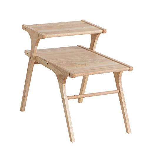Tables basses étude Table Ordinateur Table Petite Salon Table d'appoint étude Table carrée (Color : Beige, Size : 68 * 40 * 56cm)