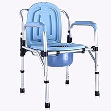 Hmhope Plegable Ajustable Altura Silla Wc CóModa AleacióN De Aluminio Impermeable Antideslizante Barandilla Ancianos Embarazada Mujeres 45.5X54.5X(81-81)cm