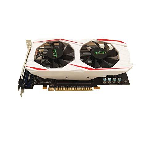 Bellaluee Grafikkarte, NVIDIA GTX750TI 2GB DDR5 Arbeitsspeicher 128Bit Grafikkarte Gaming Grafikkarte mit Hoher Bandbreite Mit HDMI VGA DVI Schnittstellen, für GeForce Desktop Computer