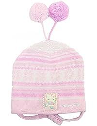 Hello Kitty Girl's Pink Fleece Winter Hat Mitten 2-pc Sz. 2T-4T