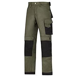 Snickers DuraTwill Hose, Olive Gr. 56