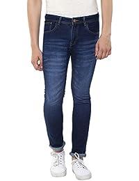 Stylox Men's Dark Blue Skinny Fit Jeans