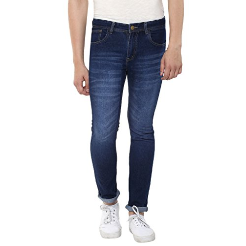 Stylox Mens Dark Blue Skinny Fit Jeans  available at amazon for Rs.479