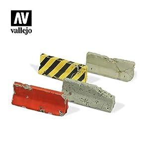 Vallejo SC215 1/35 - Barreras para hormigón (4 Unidades, Diferentes Modelos)
