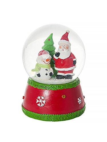 Palla di neve globo di neve di natale babbo natale e pupazzo di neve