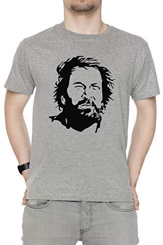 Erido Alt Zeit Knospe Herren T-Shirt Rundhals Grau Kurzarm Größe XXL Men's Grey T-Shirt XX-Large Size XXL -
