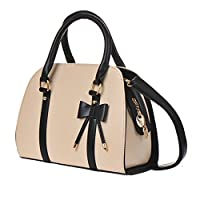 Handbag Shoulder Bag Hot Womens Vintage Messenger Tote with Bow (Beige-A) by S WIDEN ELECTRIC