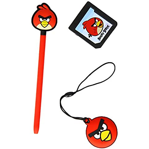 Angry Birds Red Bird Stylus Essentials Set (3pc) for Nintendo 3DS – 35193