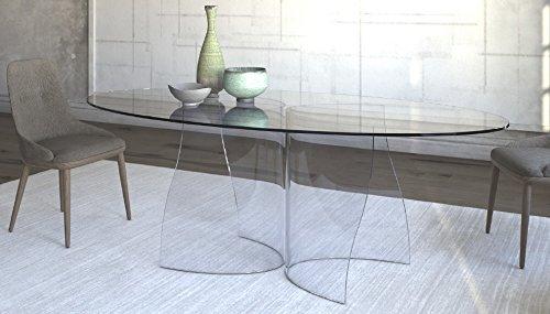 Tavolo Da Riunione In Vetro.Tavolo Da Soggiorno Pranzo In Vetro Tavolo Da Ufficio
