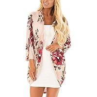 Hanomes Damen pullover, Mode Damen Casual Schal Print Kimono Cardigan Top Cover Up Bluse Beachwear preisvergleich bei billige-tabletten.eu