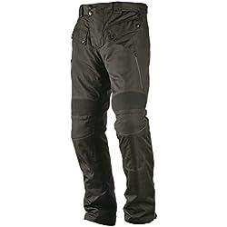 Nerve Touring Spider Pantalones de Moto con Tirantes, Negro, L