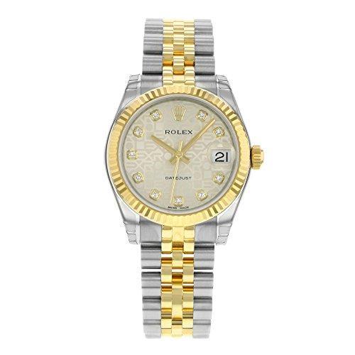 rolex-datejust-lady-31-cadran-argente-en-acier-inoxydable-et-or-jaune-18-k-rolex-jubilee-montre-auto