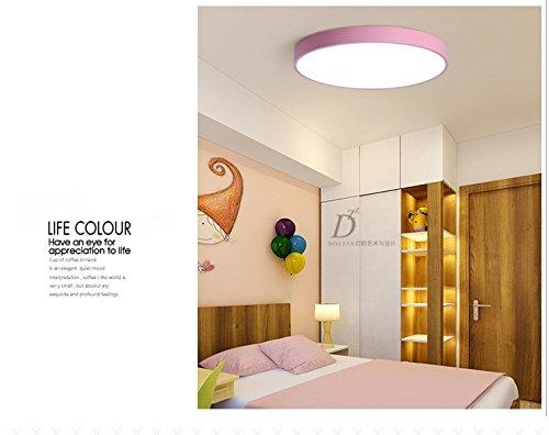 Plafoniera Per Soggiorno Bianco : Mlsh led plafoniera rotonda ultraslim lampada soggiorno rosa