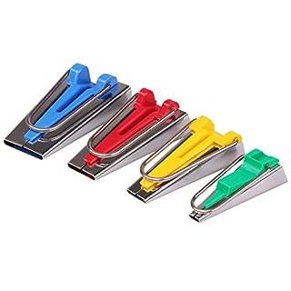 Topways® Schrägbandformer Stoff Schrägband Werkzeug Tape Maker 4er-Set in 6mm, 12mm, 18mm, 25mm