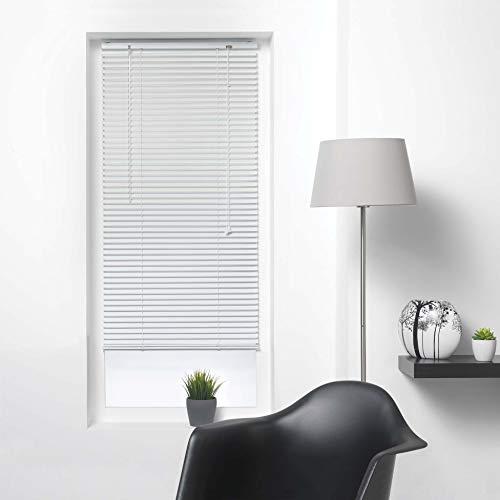 store d\'intérieur Tenda Veneziana a lamelle, 50 x 180 cm, in Alluminio, Colore: Bianco