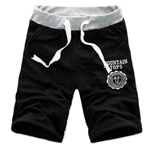 Bonboho Herren Plain Kordelzug Baggy Gym Sweat Jogging Shorts Atmungsaktiv Sweat Hosen porthose Jogging Baggy Jogginghose Slim Trainingshose (Trainingshose Drawstring-tasche)