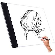 Wuiyepo A4 Tracing Light Box LED Artista Tatuaje tablero de dibujo Artista Tatuaje Dibujo Redacción Tablero de gráficos Tablet Light Pad