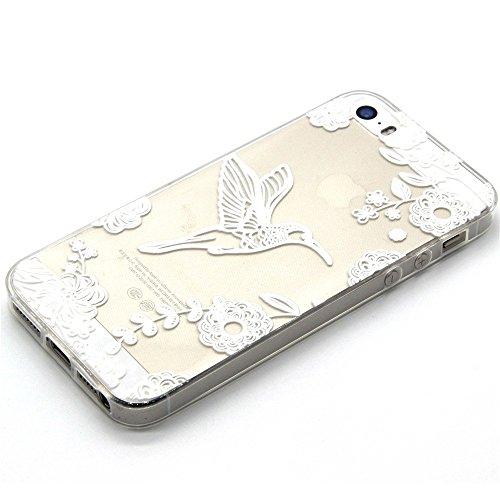 TPU Silikon Schutzhülle Handyhülle Painted pc case cover hülle Handy-Fall-Haut Shell Abdeckungen für Smartphone Apple iPhone 5 5S SE +Staubstecker (Q3) 11