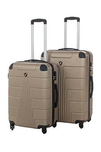 Hartschale Kofferset New York 2-teilig Gr. L+XL, 65+75cm, 68+110 Liter 7 verschiedene Farben (braun)