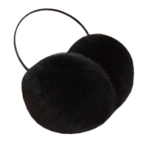 Einfache Winter Frauen Faux Pelz Outdoor Ohr Warm Ohrenschützer, Schwarz#2 (Muffs Pelz Ohr)