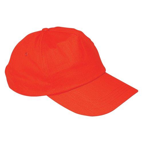 us-basic-5-panel-baseball-cap-hat-8-colours-red