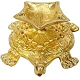 PickEndNow Turtle Design Brass Diya Deepak Oil Lamp In Antique Finished Puja Item Home Decor Fengshui Gift Pack Of 1 (Dimension - 6x4x2 Inches, Weight - 530)
