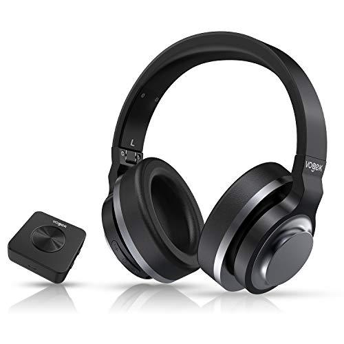 TV Funkkopfhörer, Vogek Bluetooth 4.1 Kabellose Kopfhörer mit Bluetooth 5.0-Senderladestation, Optische Faser Fernsehkopfhörer 100ft drahtlose Strecke Kopfhörer für TV Xbox PS PC Smart Handy