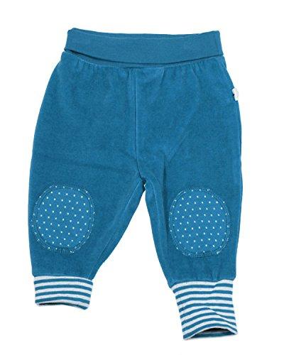Baby Kinder Hose Nickyhose Bio-Baumwolle 8 Farben Wählbar GOTS Nicki Strampelhose Jungen Mädchen Gr. 50/56 bis104 (74/80, blau)