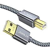USB Druckerkabel JSAUX Scanner Kabel USB A auf USB B Drucker Kabel für HP, Canon, Dell, Epson, Lexmark, Xerox, Brother, Samsung usw - Grau 2M