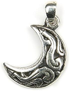 Keltischer Mond Schmuck Silber 9