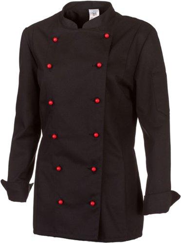 BP Koch-Jacke für Damen - Lieferung ohne Knöpfe - langarm ,Gr:42 schwarz