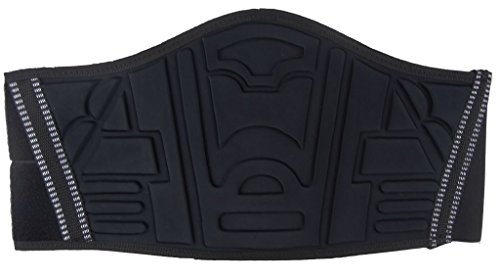 Ledershop-online Motorrad Nierengurt Nierenschutz Rückenwärmer mit breitem Klettverschluss schwarz M