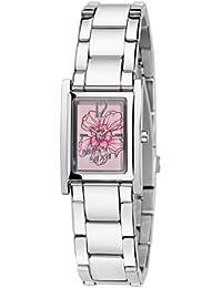 Miss Sixty SQF008 - Reloj analógico de cuarzo para mujer con correa de acero inoxidable, color plateado